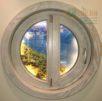 Круглые деревянные окна из бруса. ЕВРО и ОСВ