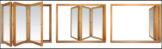 Сдвижные деревянные порталы гармошка