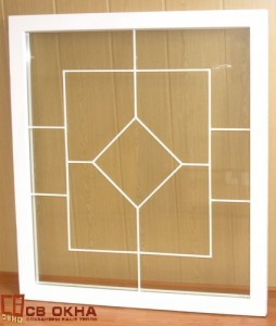 ОСВ окно с декор ф/п внутри с/п цвет белый