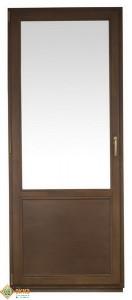"""ОСВ балконная дверь. Материал сосна. Цвет Орех. """"СТАНДАРТ""""."""