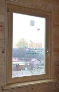 Окно ОСВ в обсаде, цвет Клен. Вид из помещения
