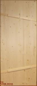 Дверь деревянная банная. Материал ель. Без окраски.
