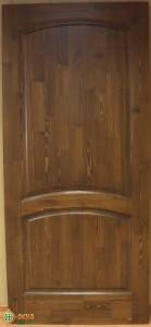 Дверь деревянная межкомнатная. Материал сосна. Цвет Орех.