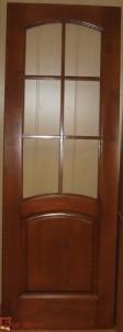 Дверь деревянная межкомнатная под стекло. Материал сосна. Цвет Тик.