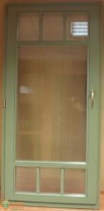 ЕВРО дверь, сосна. Цвет по RAL. Фальшпереплет накладной с 2-х сторон.
