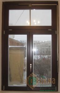 ЕВРО окно с механической тягой открывания фрамуги.