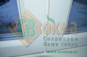 ЕВРО окно с декоративным штапиком, цвет Белый