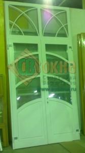 ЕВРО дверь штульповая с декоративным фальшпереплетом