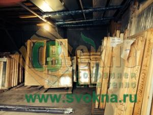 Деревянные окна со склада