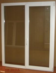 Окно ОСВ 2-х створчатое. Цвет Белый. 1630х1330мм.